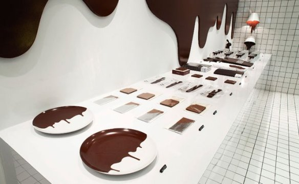 Chocolate Research Facility store desk vía CRF's Facebook Page